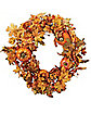 Fall Leaves Pumpkin Wreath