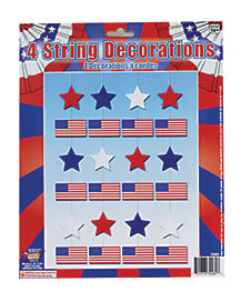5.5 Ft Hanging Stars and Flags - Decorations