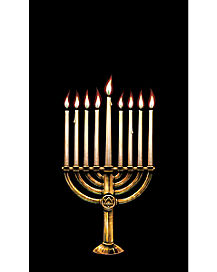 Menorah Window Poster - Decorations