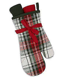 Plaid Christmas Oven Mit Set