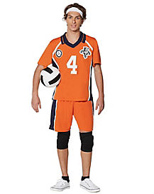 Adult Orange Volleyball Uniform Costume