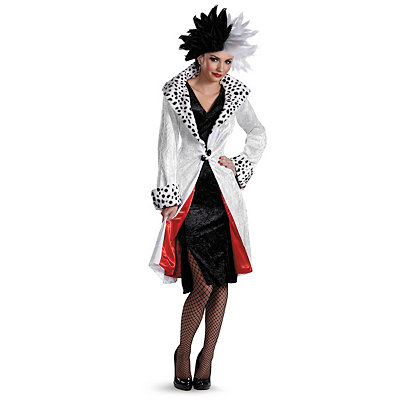 Vintage Inspired Halloween Costumes Adult Cruella De Vil Prestige Costume - 101 Dalmatians $89.99 AT vintagedancer.com
