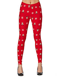 Heart Eyes Reindeer Leggings