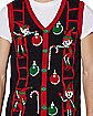 Adult Elf Ugly Sweater Vest