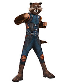 Kids Faux Fur Rocket Raccoon Costume - Guardians of the Galaxy Vol. 2