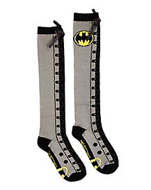 Batman Lace-Up Knee High Socks - DC Comics