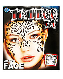 Cheetah Temporary Face Tattoo