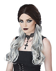 Black and Gray Morbid Mistress Wig