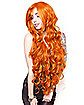 Long Curly Orange Wig
