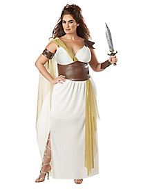 Adult Plus Size Spartan Warrior Queen Costume