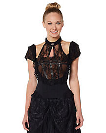 Black Lace Steampunk Shirt
