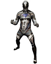 Adult Black Ranger Skin Suit Costume - Power Rangers