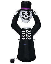 4 Ft Light Up Skeleton Inflatable - Decorations