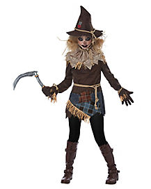 Tween Creepy Scarecrow Costume