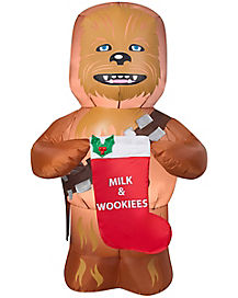 5 Ft Chewbacca with Stocking Inflatable - Star Wars
