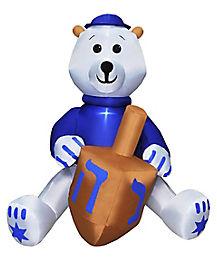 4 Ft Teddy Bear Hanukkah Inflatable