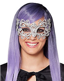 Ribbon Rhinestone Mask