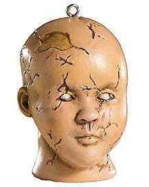 Doll Head Christmas Ornament
