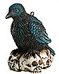 Raven Skull Christmas Ornament