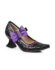 Kids Spooky Witch Heel Shoes
