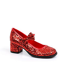 Kids Bow Glitter Shoes