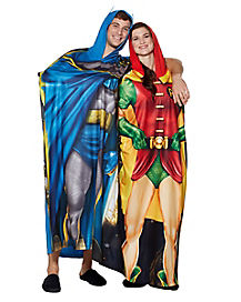 Batman and Robin Twinsie Pajama Costumes 2 Pack - DC Comics