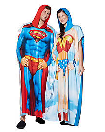 Superman and Wonder Woman Twinsies Pajama Costumes 2 Pack - DC Comics