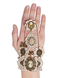 Steampunk Lace Cameo Ring Bracelet