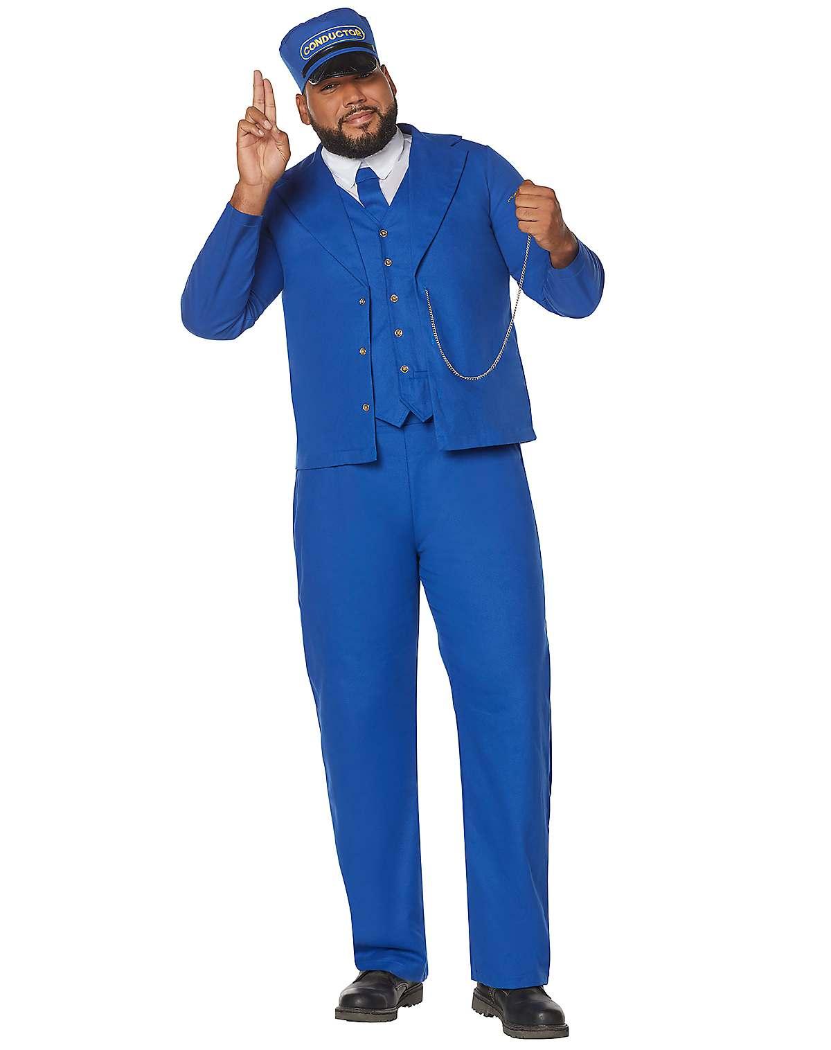 Train conductor plus size costume
