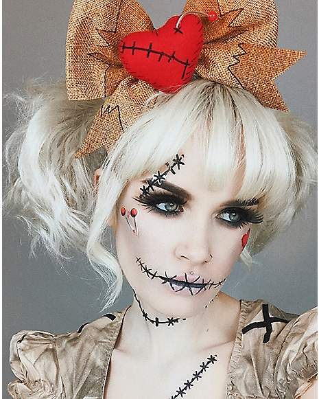 Voodoo Doll Makeup Tutorial at Spirit Halloween