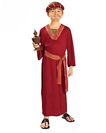 Kids Burgundy Wiseman Costume