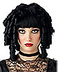 Ghost Doll Womens Black Wig