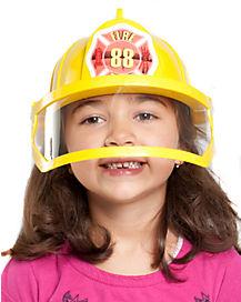 Kids Yellow Fireman Hat