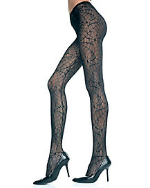 Black Spider Web Tights