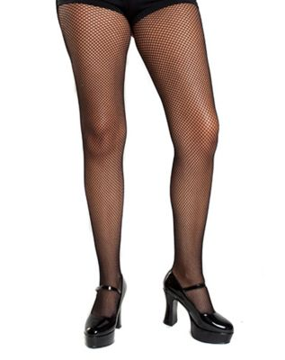 1920s Style Stockings, Tights, Fishnets & Socks Black Fishnet Plus Size Tights by Spirit Halloween $6.99 AT vintagedancer.com