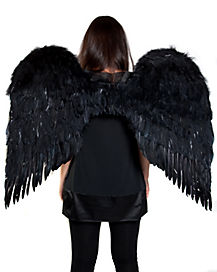3 ft Black Feather Wings