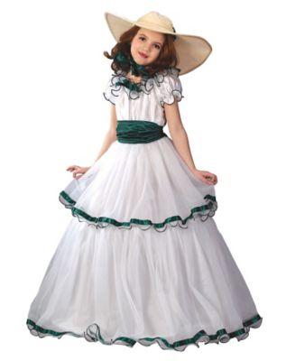 Victorian Kids Costumes & Shoes- Girls, Boys, Baby, Toddler Kids Southern Belle Costume by Spirit Halloween $39.99 AT vintagedancer.com
