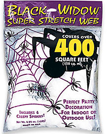 White Superstretch Spider Web