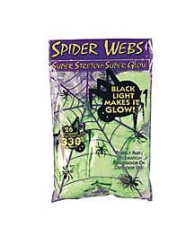 Glow in the Dark Superstretch Spiderweb
