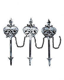 Skull Lawn Stakes - Decorations