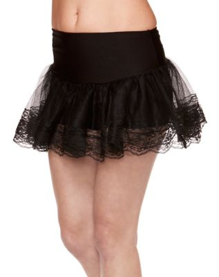 Steampunk Skirts   Bustle Skirts, Lace Skirts, Ruffle Skirts Black Lace Petticoat by Spirit Halloween $14.99 AT vintagedancer.com