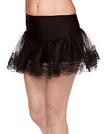 Black Lace Petticoat