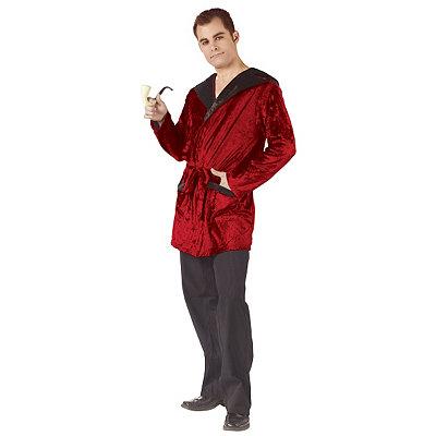 Vintage Men's Costumes – 1920s, 1930s, 1940s, 1950s, 1960s Adult Velvet Smoking Jacket $29.99 AT vintagedancer.com