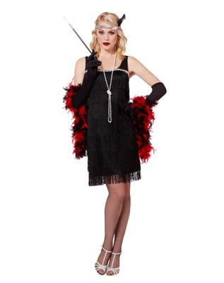 Roaring 20s Costumes- Flapper Costumes, Gangster Costumes Adult Black Flapper Costume $29.99 AT vintagedancer.com