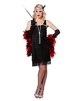 Adult Black Flapper Costume
