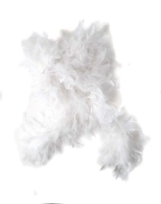 Vintage Scarves- New in the 1920s to 1960s Styles White Feather Boa by Spirit Halloween $9.99 AT vintagedancer.com