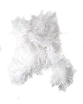 White Faux Feather Boa