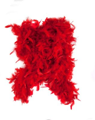 Vintage Scarves- New in the 1920s to 1960s Styles Red Feather Boa by Spirit Halloween $10.99 AT vintagedancer.com