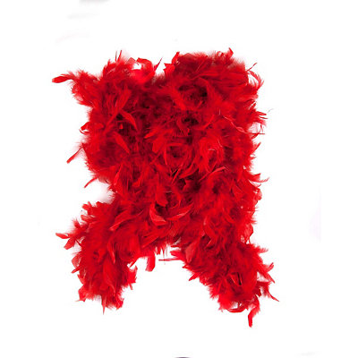 1920s Style Wraps Red Feather Boa $10.99 AT vintagedancer.com