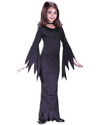 60s 70s Kids Costumes & Clothing Girls & Boys Kids Morticia Costume by Spirit Halloween $12.99 AT vintagedancer.com